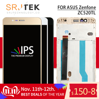 Srjtek Screen For ASUS Zenfone 3 Max ZC520TL Display Touch Digitizer X008D Screen Glass Assembly 5.2'' Frame For ASUS X008D LCD