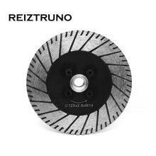 REIZTRUNO 5 Алмазный шлифовальный многоцелевой Диамант Turbo увидел лезвия угла Дробилка для гранита бетона с фланцем