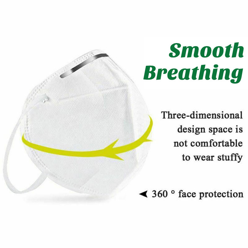 Image 5 - 50PCS Non Woven Disposable Face Mask 3 Layers Medical Dental  Earloop Anti Dust Face Surgical Masks 2/10PCS KN95 Mouth Face Masks  -