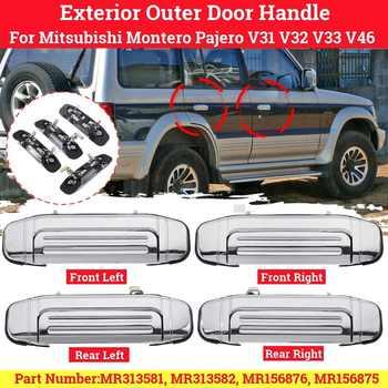 4 uds/1pc coche Exterior puerta Exterior de cromo para Mitsubishi Montero Pajero V31 V32 V33 V46 1992, 1993, 1994, 1995, 1996, 1997-2000