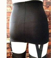 Women High Waist Skirt Garter Belt 4 Claw Metal Wide Straps Suspenders Belt stocking suspender Femmen Lady Sexy Garters S-2XL