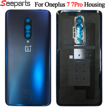 Original Back Case For OnePlus 7 Pro Battery Cover Back Rear Door Housing Replacement Parts For oneplus 7 pro Back housing original new back glass oneplus 7 7t pro battery cover door one plus 7t rear housing case oneplus 7 pro battery cover panel