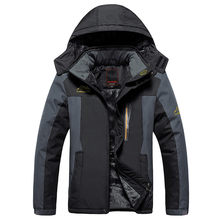 Winter Jas Mannen Waterdicht Winddicht Fluwelen Warme Parka Jas Toerisme Berg Overjas Plus Size XL-9XL Down Parka Mannen Moncler(China)