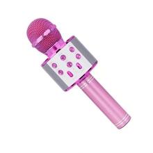 Speaker Mic Singing Microphone Bluetooth Outdoor WS858 Handheld Portable Wireless