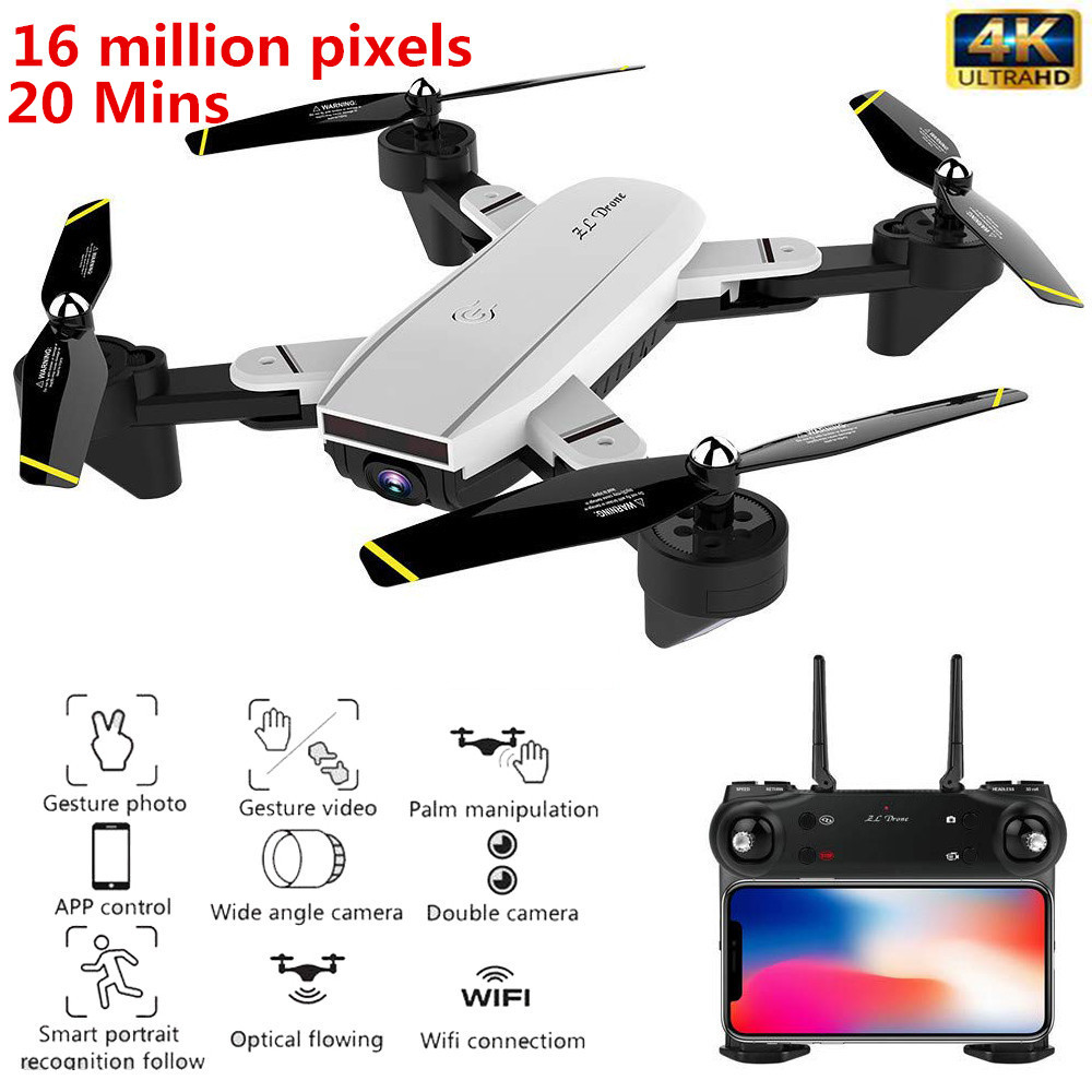 Best WiFi FPV RC Drone 4K with Dual Camera 50x zoom Selfie Professional Foldable Optical Flow Quadcopter Helicopter