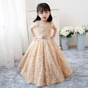 Piękny kwiat sukienki dla dziewczynek Tulle 2020 suknie na konkurs piękności dla dziewczynek pierwsza komunia sukienki dla dzieci suknie urodzinowe tanie i dobre opinie GOHYPDUG Długość podłogi Suknia balowa O-neck Bez rękawów Satyna Kwiaty Flower girl dresses REGULAR