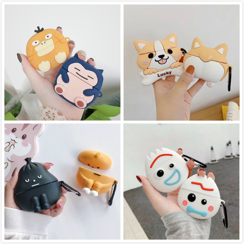 Earphone Case For Airpods Pro Case Silicone Cartoon Cute Dog Stitch Cover For Apple Air Pods Pro 3 Earpods Earbuds Accessories