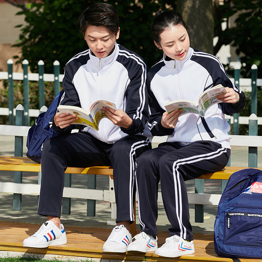 Spring And Autumn Parent And Child Sports Couples Set Men And Women School Uniform Long Sleeve Running Sports Clothing Coat