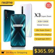 Realme x3 6.6 8 8gb + 128gb nfc superzoom 64mp snapdragon 855 + 120hz exibição 64mp 60x 4200mah 30w dardo carga 4g telefone móvel