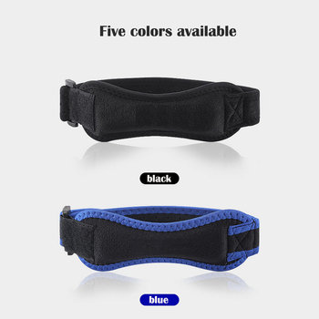 adjustable patella knee tendon strap protector guard support pad belted sports knee brace keenpads fitness training knee support Men And Women Sports Running Knee Pads Strap Protector Guard Support Pad Belted Sports Knee Brace Pure Color Kneepads Outdoor