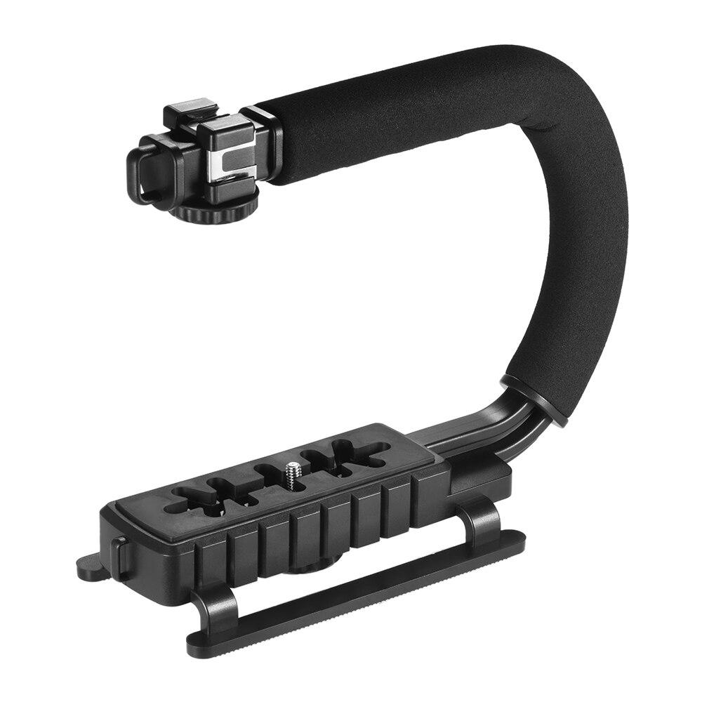 U-Grip Bracket U Shape Bracket Video Handle Handheld Stabilizer Grip Holder W/1/4