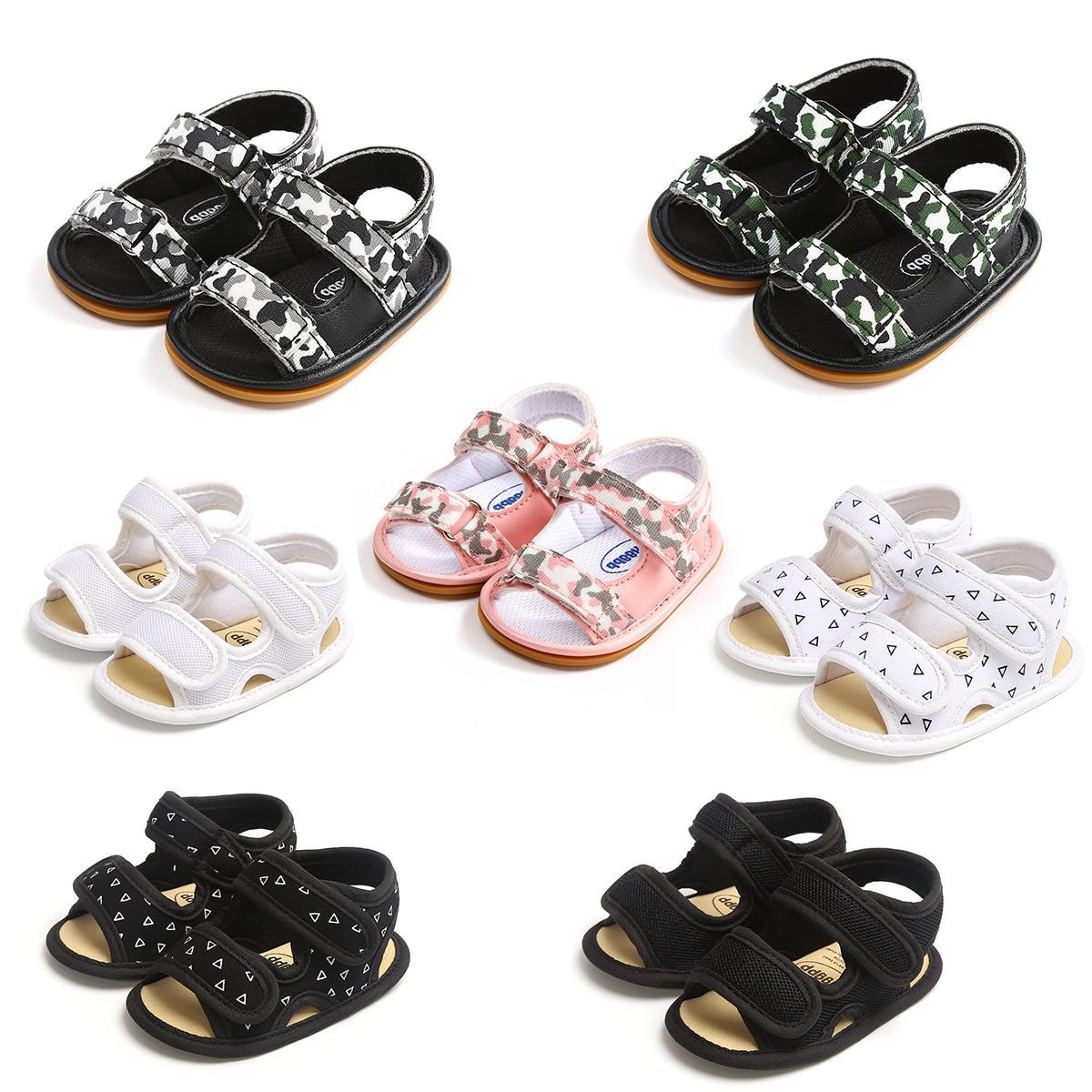2020 Children Summer Baby Shoes Newborn Infant Baby Girl Boy Soft Crib Shoes Infants Anti-slip Sneaker Prewalker 0-18M