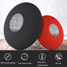 3600mAh Fashion Alarm Clock Bluetooth 4.2 Speaker Wireless Bluetooth Speaker Temperature Display Clock with Remote Control Hot bluetooth alarm clock wireless speaker with led display