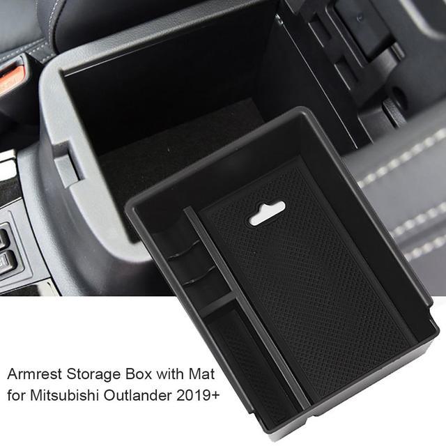 Voiture Console centrale accoudoir boîte de rangement support pour Mitsubishi Outlander 2019 + accoudoir boîte de rangement support accoudoir boîte de rangement Hol