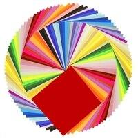 Бумага для оригами, 50 ярких цветов, двухсторонняя, 200 листов, Премиум качество, 15 см х 15 см, для художественных и ремесленных проектов, одинако...