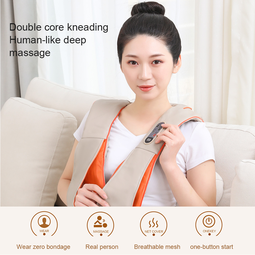 NEW U Shape Electrical Shiatsu Body Shoulder Neck Massager Tapping Kneading Massage Home Best Gift HealthCare