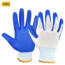 Deli Breathable Non-slip Polyester Gloves Garden Tools Industrial Household Working Outdoor Gardening Protective Gloves