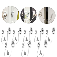 8Pcs/Set Window Locks Children Protection Lock Stainless Steel Window Limiter Baby Safety Infant Security Window Locks Products