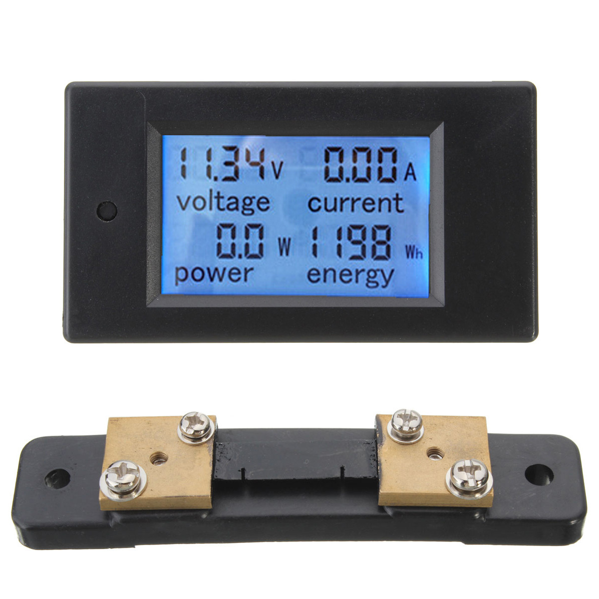 100A DC 6.5V 100V  Digital Multifunction Power Meter Energy Monitor Module Voltage Meterr Ammeter With 50A Shunt New Power Meters     - title=