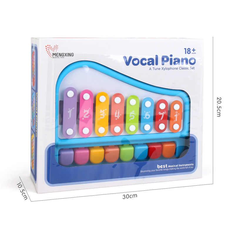 พลาสติกระนาดเปียโนเครื่องดนตรีของเล่นขนาด 5/8 สำหรับเด็ก 1-3 เด็กการศึกษาเด็กวัยหัดเดินของเล่นมือถือสำหรับชายหญิง