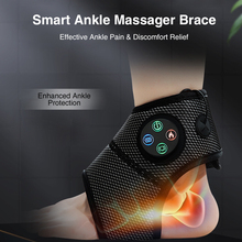 Smart Electric Ankle Massager Feet Brace Compression Air Heating Pain Relief Relaxation Vibration Foot Massage Machine