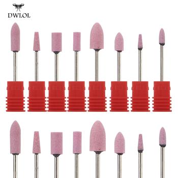 8 typ ceramiczny flint wiertarka do paznokci frezowanie obcinacz do paznokci elektryczna wiertła do paznokci wiertarka do paznokci Bit do Manicure Pedicure wiertła akcesoria tanie i dobre opinie DWLOL CN (pochodzenie) JGSZT-05