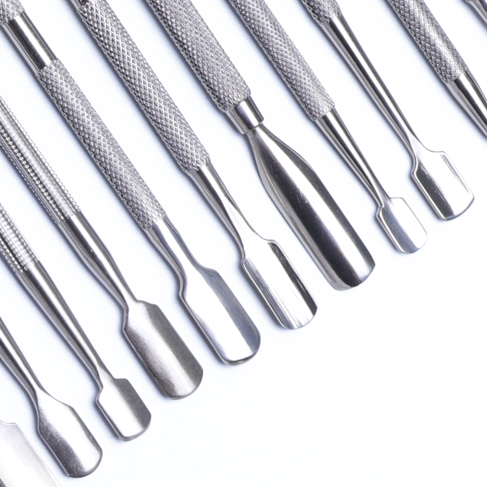 14 Type Nail Art Stainless Cuticle Pusher Cleaning Stirring Polish Powder Spatulas Tone Rods Manicure Remover Makeup Tools LAA17