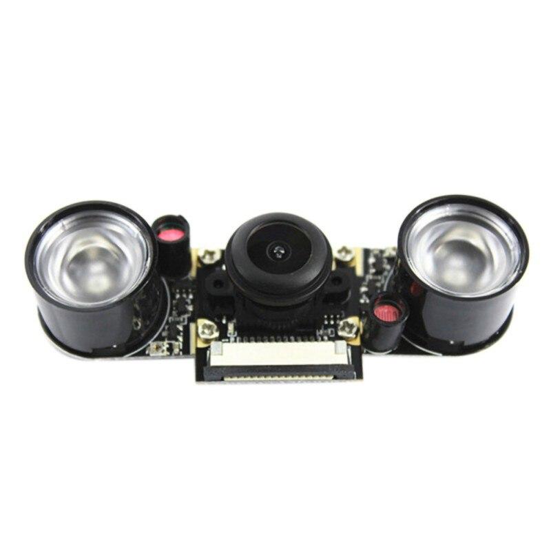 Night Vision Fisheye Camera 5MP 130 Degrees Focus Adjustable Camera For Raspberry Pi 3B / Plus