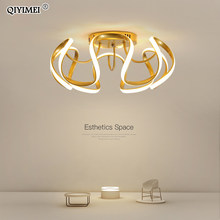 Schlafzimmer Lampe Moderne LED Kronleuchter Beleuchtung Wohnzimmer Studie Zimmer Dekoration Weiß Gold Schwarz Farbe Dimmer Parlor Foyer Luminaria