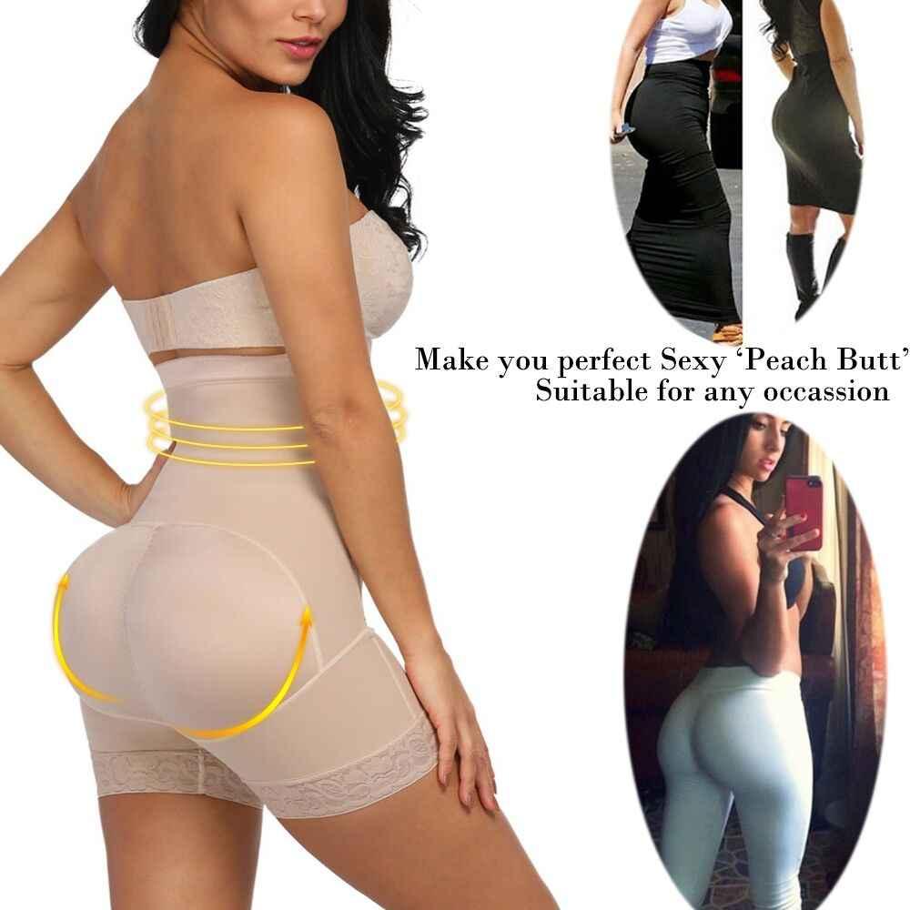 FETCHSHE الصدر الدانتيل بعقب رافع عالية مدرب خصر بذلة مفصلة لشكل الجسم النساء Fajas ملابس داخلية للتنحيل مع البطن تحكم سراويل داخلية