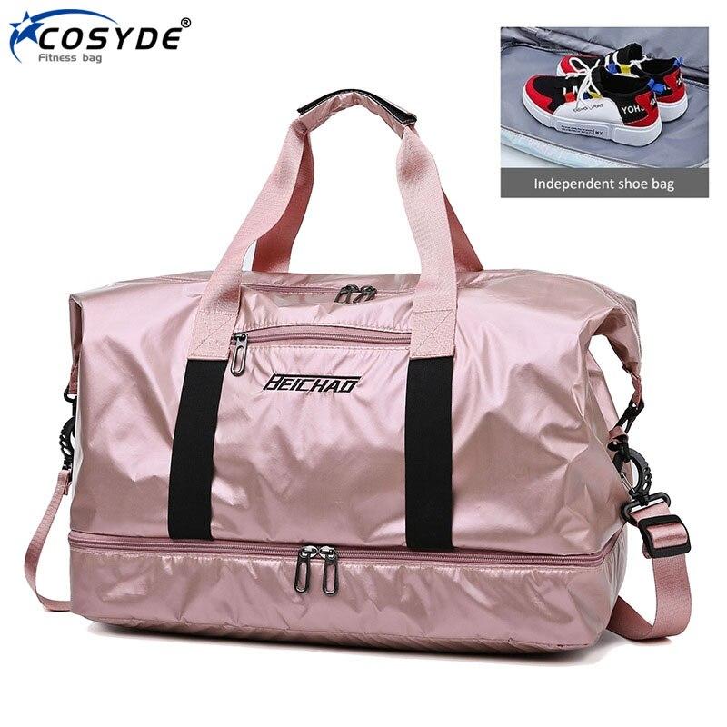 Wet Dry Sports Bag Waterproof Men Gym Bag With Shoes Nylon Traveling Sac De Sporttas Women Hand Luggage Bag Training Handbags