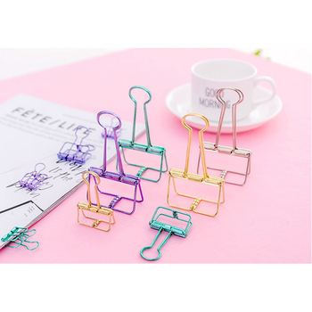 1pcs/pack Kawaii Large Medium And Small Three Size Selection Colorful Metal Clip Office Supplies For Gifts