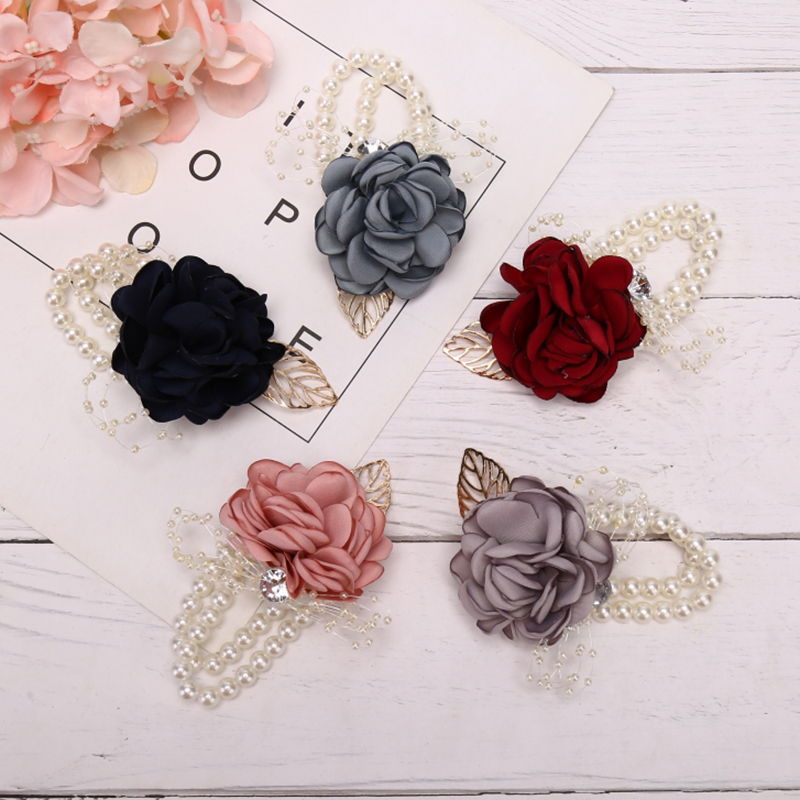 Wrist Flower Girls Bridesmaid Sisters Wedding Party Bracelet Bridal Prom Accessories Wedding Supply Party Decor