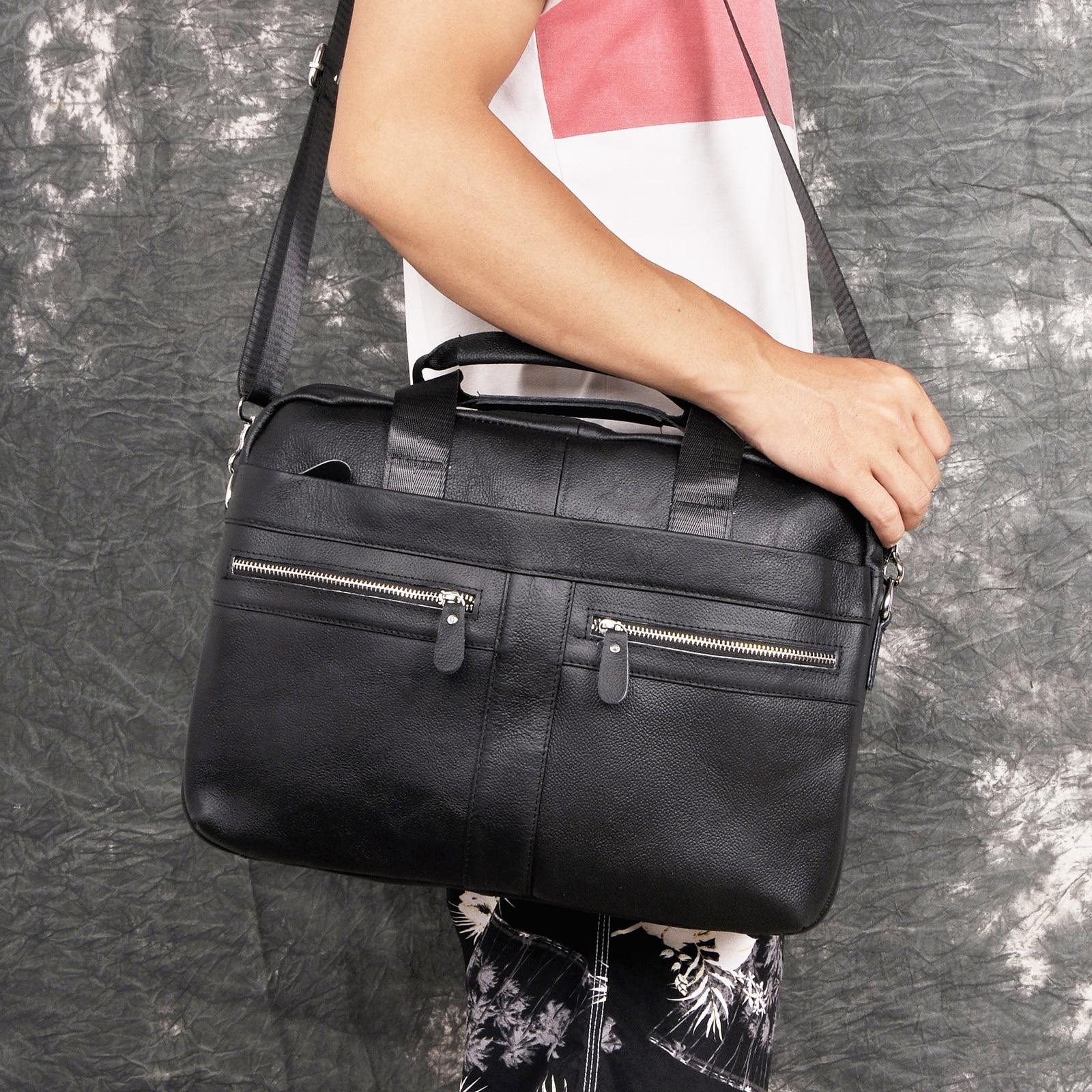"""Men Oil Waxy Leather Antique Design Business Briefcase 15.6"""" Laptop Document Case Attache Messenger Bag Tote Portfolio 1115b"""