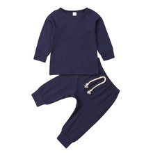 Newborn Infant Baby Girls Boys Clothes T-Shirt Tops Leggings Pants 2Pcs Outfits Set Long Sleeve Autumn Winter Warm Clothing newborn infant baby boys girls clothes set t shirt tops short sleeve pants cute outfits clothing baby boy