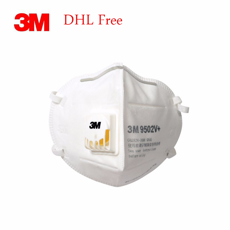 3M Face Mask FFP3 N95 9502v+ Face Mask Mouth Protective Covid 19 PM2.5 Protective Mask Reusable Masque Mascherine Free DHL