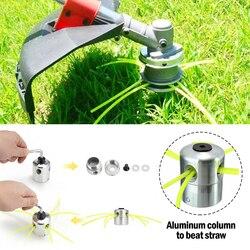 Новая алюминиевая Головка триммера для травы с 4 линиями, головка кустореза, аксессуары для газонокосилки, режущая линия, запасная головка д...