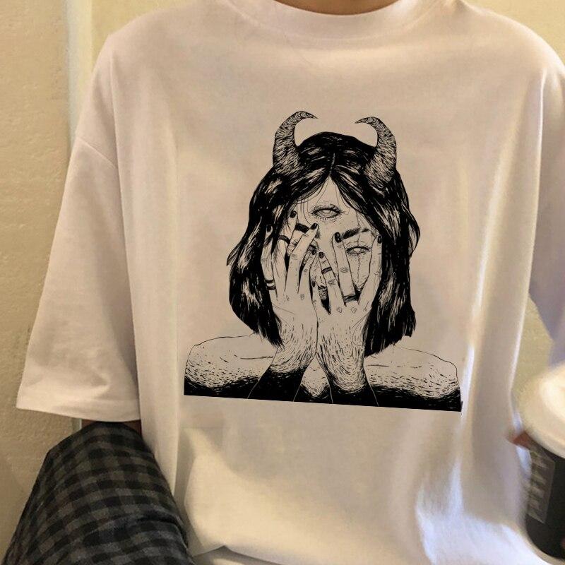 Women's T-shirt Retro Vegetarian Shirt Women's T-shirt Harajuku Cool Girl T-shirt Punk Clothing Top Harajuku T-shirt