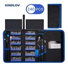 KINDLOV דיוק מברג סט 140 ב 1 CR V מברג קצת מגנטי Torx Hex מברג ביטים אלקטרוניקה תיקון כלי קיט
