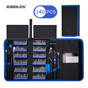 KINDLOV Precision Screwdriver Set 140 In 1 CR-V Screwdriver Bit Magnetic Torx Hex Screw Driver Bits Electronics Repair Tool Kit(China)