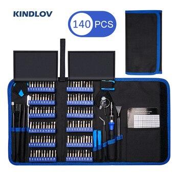 KINDLOV Precision Screwdriver Set 140 In 1 CR-V Screwdriver Bit Magnetic Torx Hex Screw Driver Bits Electronics Repair Tool Kit