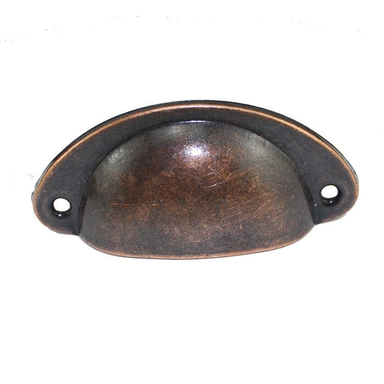 1 шт. ретро металл для ящика кухонного шкафа дверные ручки мебельные ручки, фурнитура антикварный шкаф Железный корпус ручки - Цвет: Red Bronze