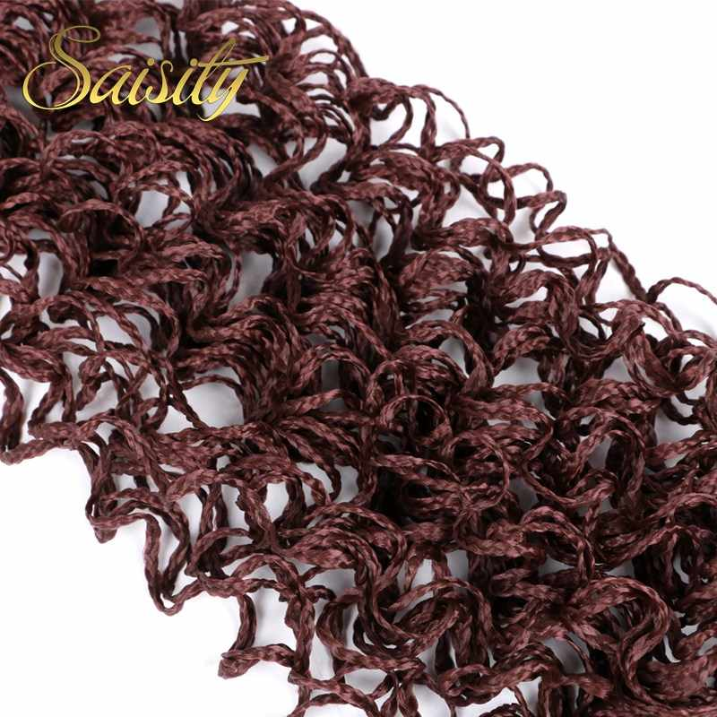 Saisity Zizi Box Braids 20''Gray Pink Purple Crochet Hair 48Strands / Pack 50g Crochet Colored Synthetic Extensions Hair