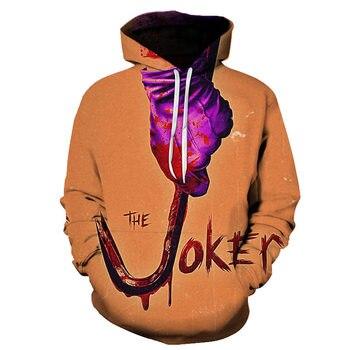 joker costume 2019 Sweatshirts Men Brand Hoodies Men 3D Printing Hoodie Male Casual Tracksuits Size S-6XL Wholesale and retail 8