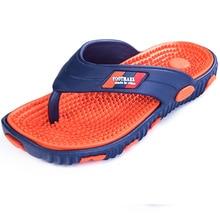 Massage Men Slippers Shoes Soft Big Size Fashion Summer Water Male Sandals High Quality Flat Beach Shoes Non-slip Mens Flip Flop