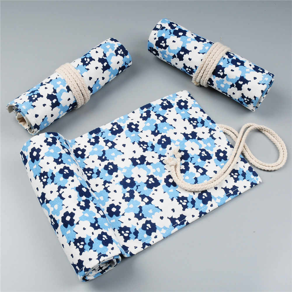 ม้วนดินสอโรงเรียนสำหรับสาวเด็กตลับหมึกกระเป๋า 12/24/36/48/72 หลุมดินสอน่ารัก penal ปากกากระเป๋าเครื่องเขียน