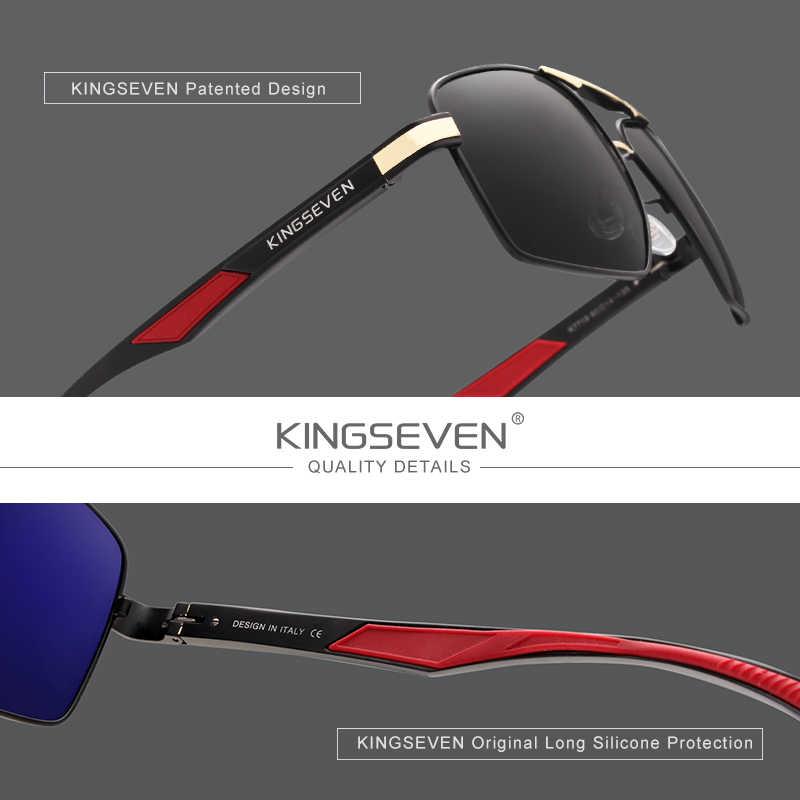 KINGSEVEN бренд 2020, дизайнерские мужские очки, поляризационные солнцезащитные очки с зеркальным покрытием, мужские очки, аксессуары для мужчин