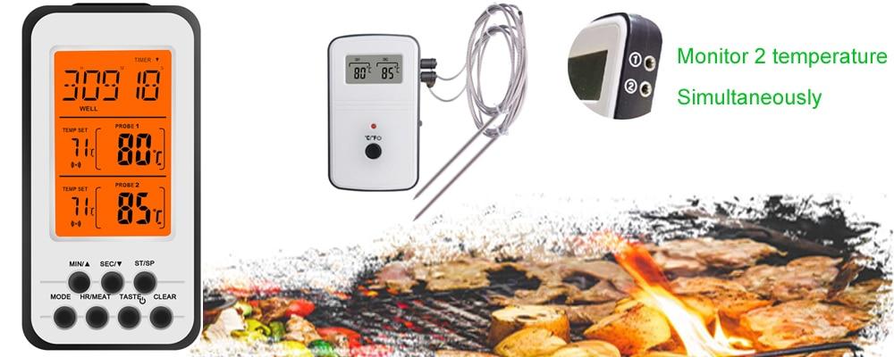 Wireless Thermometer Instant Read BBQ Kitchen Gadget