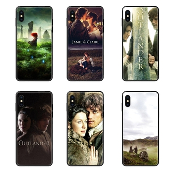 Outlander Tv Hot Jamie Fraser Good-looking Black Soft TPU Ultra Thin Cartoon Pattern Luxury For Galaxy Note 4 8 9 10 20 Plus image