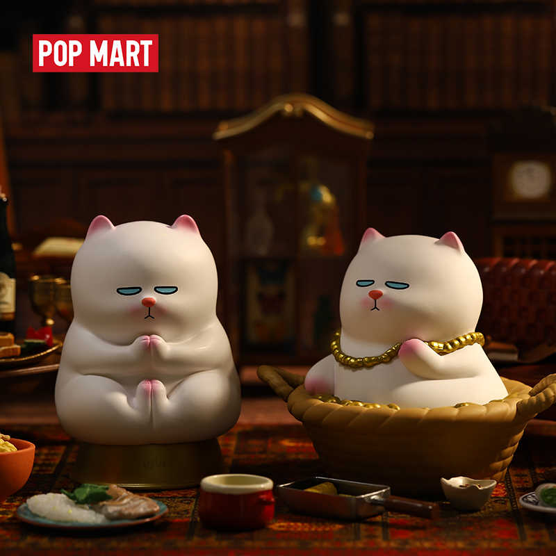 POPMART فيفي القط لاسل يجلس S1 صندوق أعمى دمية ثنائي عمل الشكل هدية عيد ميلاد طفل لعبة عمل الشكل شحن مجاني